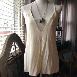 NWT Esley Lace Inset Cream Cami